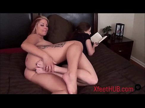Footjob threesome swapping wives on beautiful