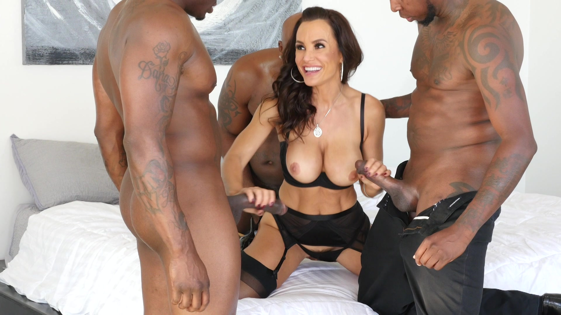 Dripping bbc gangbang stacked brunette